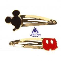 Set 2 pinces à cheveux Mickey 90ème anniversaire