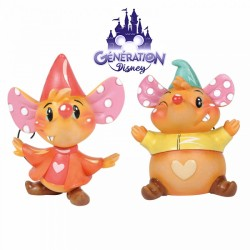 Set de 2 figurines résine Gus et Jac - Collection Miss Mindy - Enesco