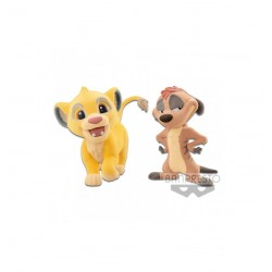 SIMBA AND TIMON - FLUFFY PUFFY 7cm THE LION KING DISNEY 7cm