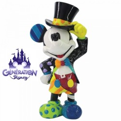 """Statue résine Mickey """"Mickey Mouse with Top Hat""""- Enesco by Britto 23cm"""