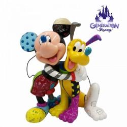Statue résine Mickey et Pluto - Enesco by Britto 21cm