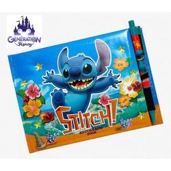 Carnet d'autographes Stitch avec stylo et autocollants - USA