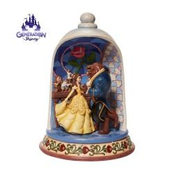 """Diorama résine de la Belle et la Bête """"Enchanted Love"""" - Enesco by Jim Shore"""