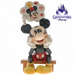 "Statuette résine Mickey ""Thinking of You"" - Jim Shore - Enesco"