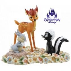 Statue résine Bambi et ses amis d'enfance Collection Enchanting - Enesco