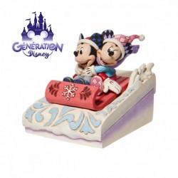 Luge Mickey et Minnie Noël...