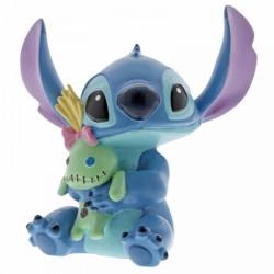 Figurine résine Stitch avec Souillon - 6cm - Enesco Disney Showcase
